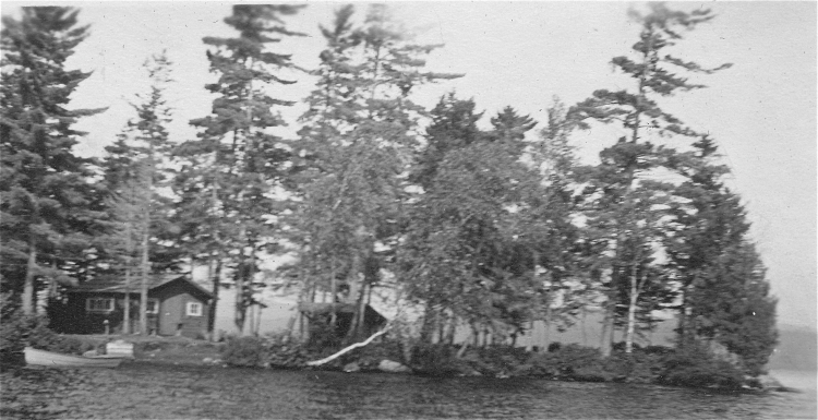Earliest photo of little red cabin.  Courtesy of Jim Kammer.