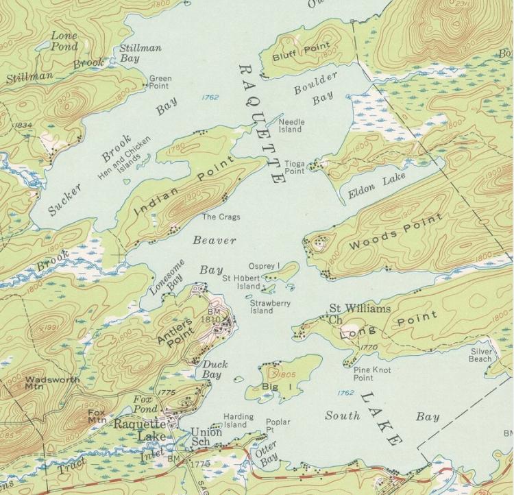 USGS Raquette Lake 1954