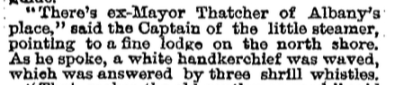 Exhibit A - An article in the New York Times describing a steamboat tour of Raquette Lake