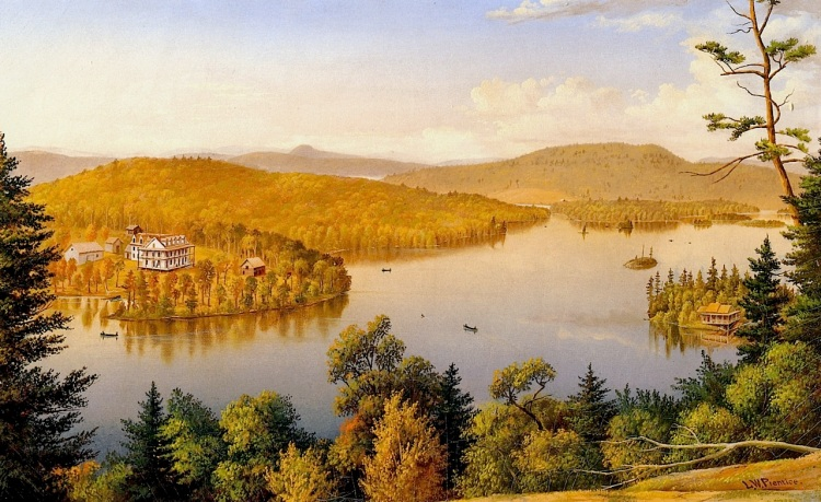 Painting by Levi Wells Prentice - Courtesy of the Adirondack Museum Collection.