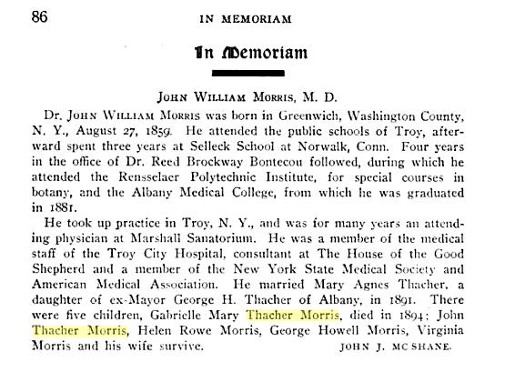 Dr. Morris in memoriam